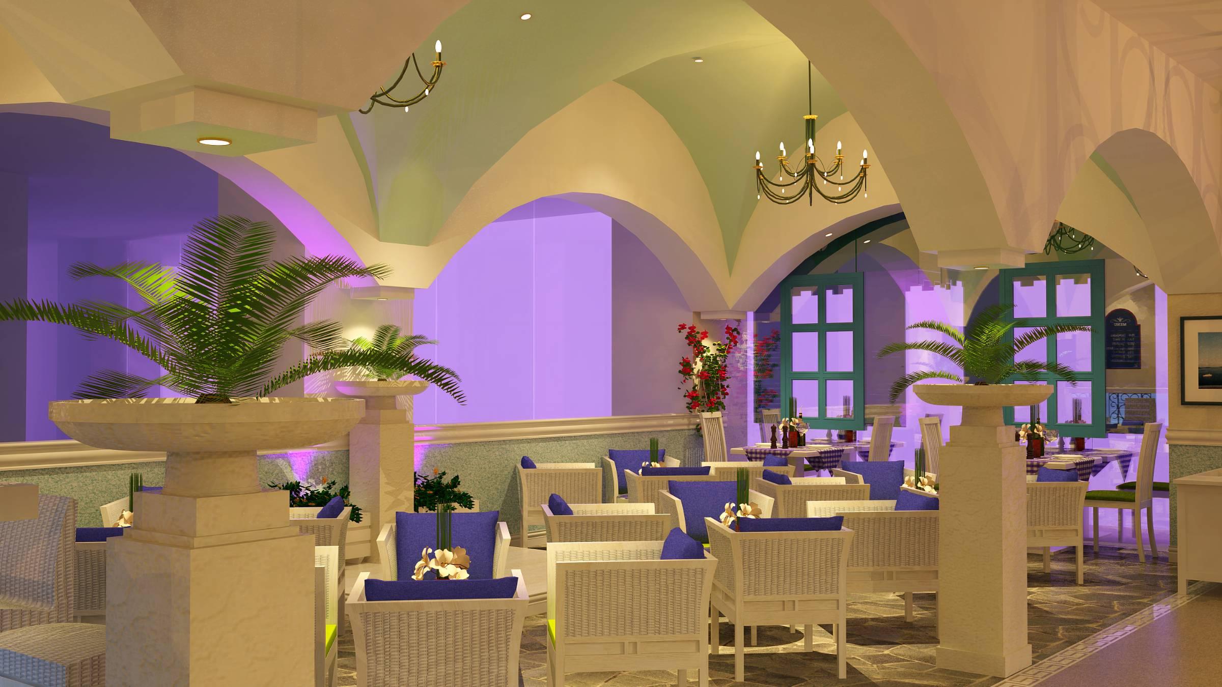 Fresco fine dine restaurant bar seating
