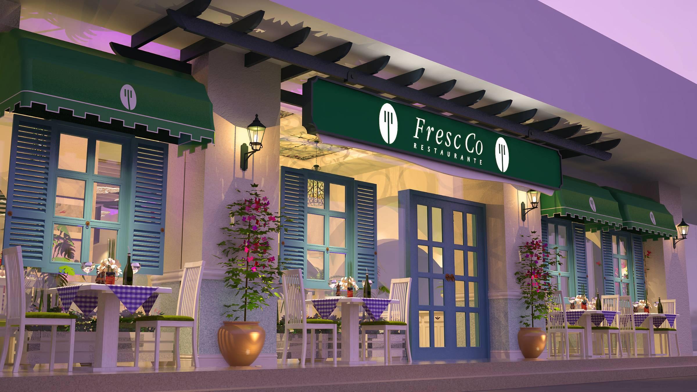 Fresco fine dining restaurant facade view
