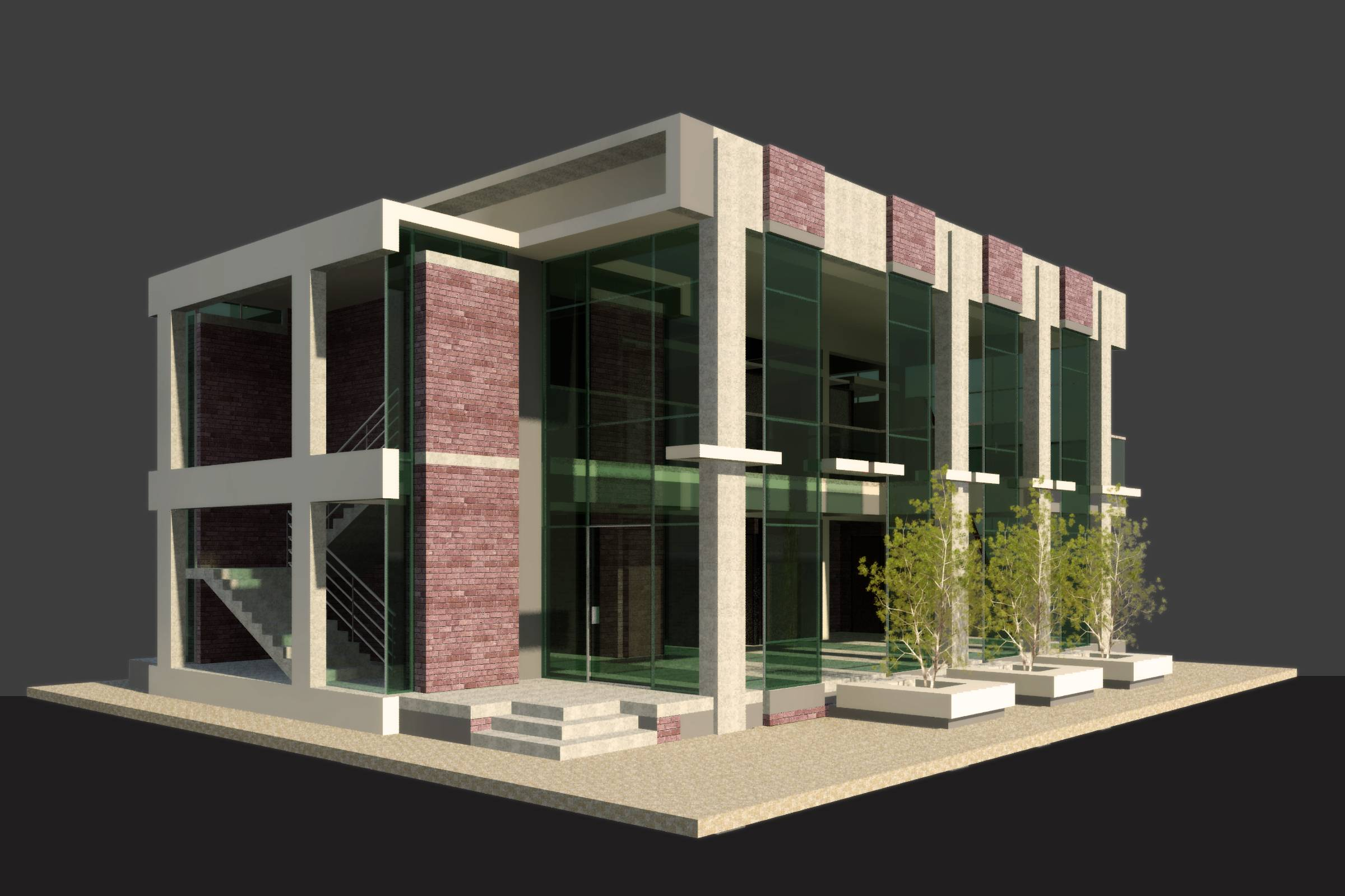 BIM Structural view of Kwench Cafe