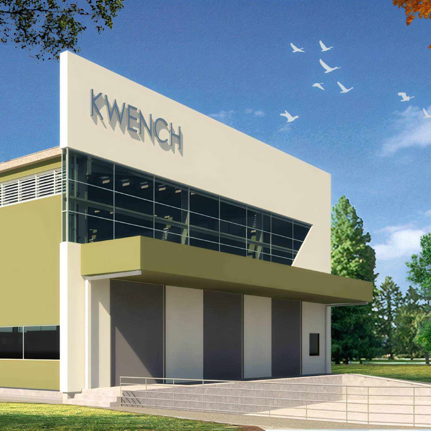 Kwench Plant Industrial Architecture front facade view