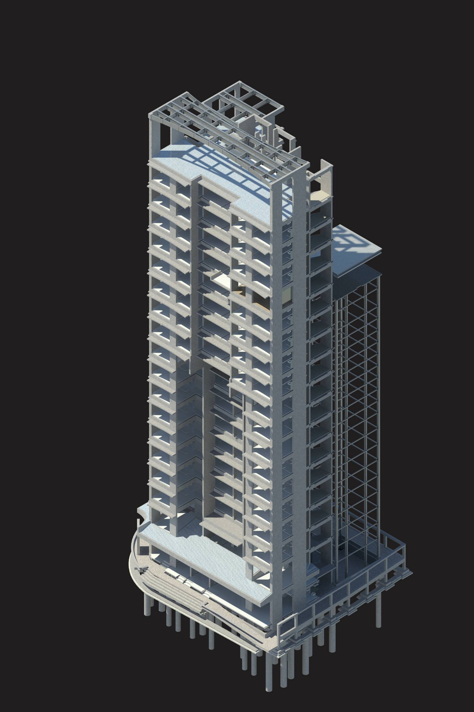 Sonas Towers Structural BIM Model