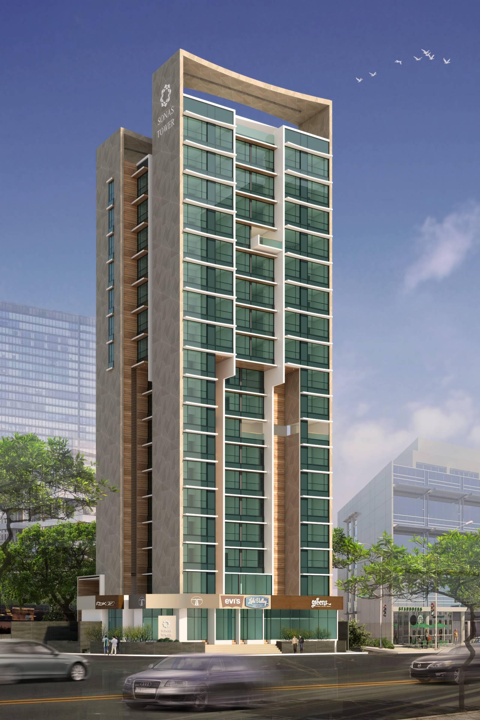 Sonas Towers High-rise Housing full view