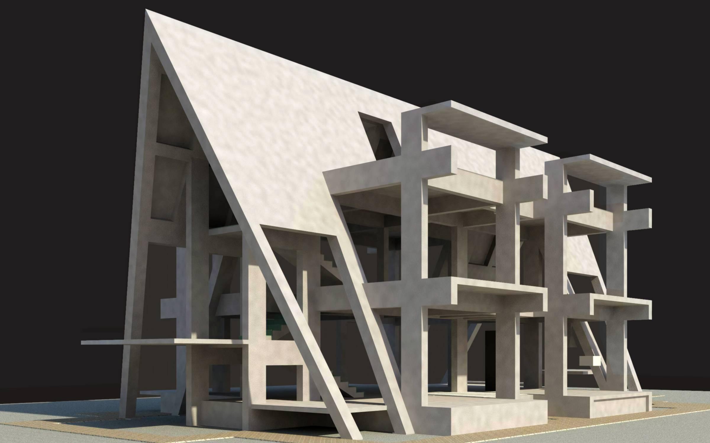 The Villa Structural Framing view
