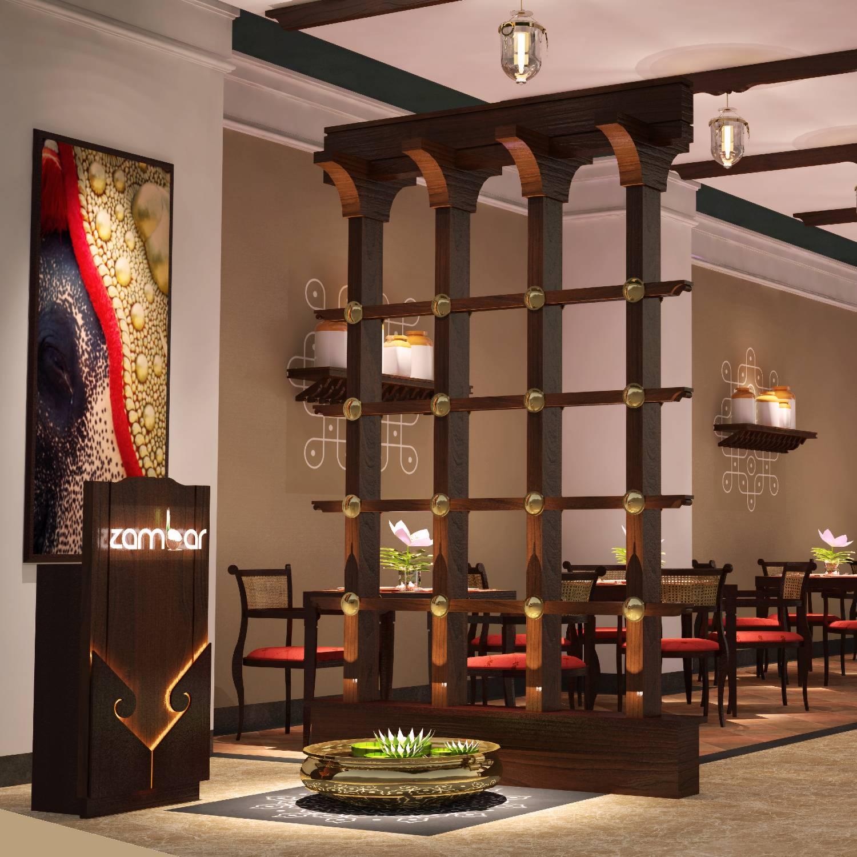 Zambar Fine Dining Restaurant lobby
