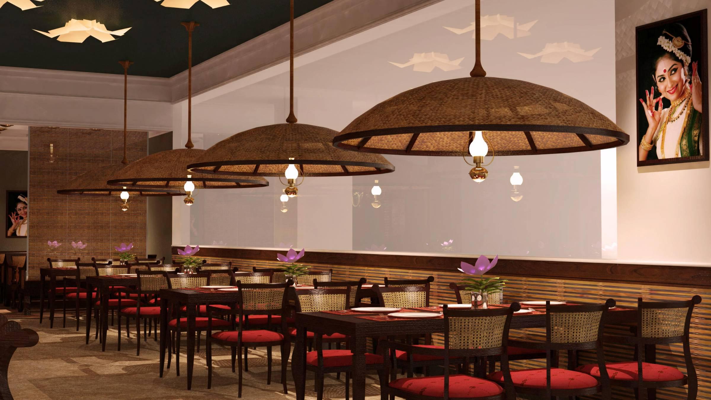 Zambar restaurant woven mat fabric seating